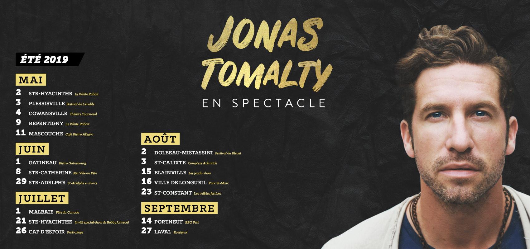 Jonas Tomalty Été 2019